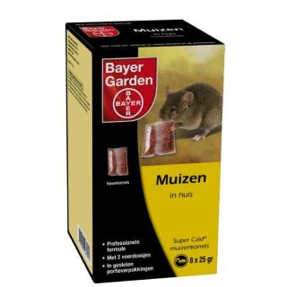 Bayer SuperCaid muizenkorrels  8x25 gram  /  art. 1060241