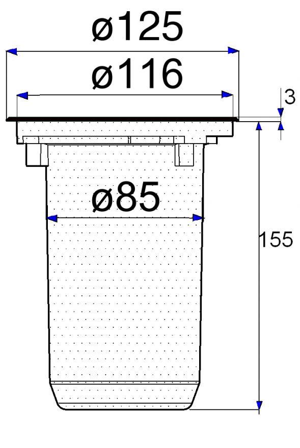 Grondspot RVS rond (inbouwspot 5740)