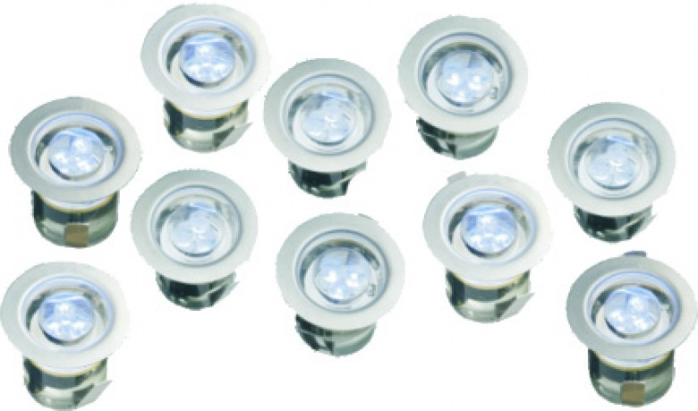 SPOTS RVS / Deck - Lights   (R3LED10-01, grondspotjes)