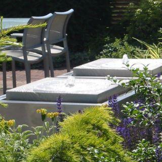 Watertafel RVS geschuurd 80 x 80 x 40 cm