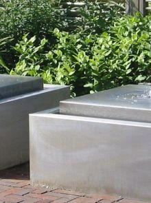Watertafel RVS geschuurd 100 x 100 x 40 cm