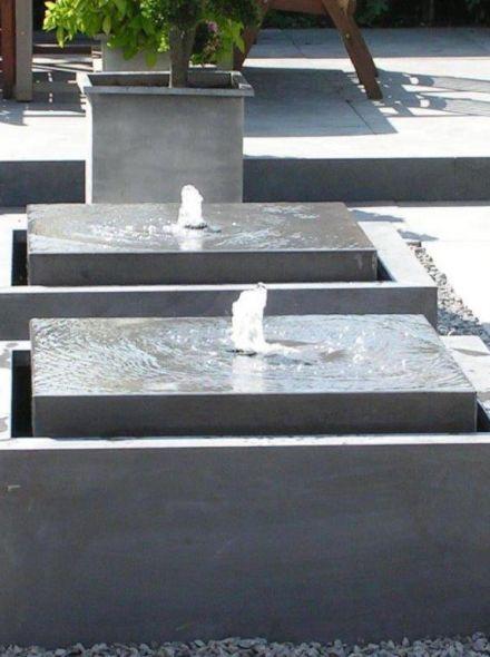 Watertafel Zink 80 x 80 x 40 cm