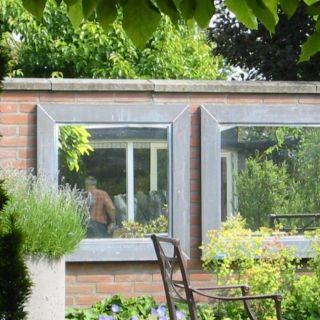 tuinspiegels spiegels voor buiten metalen On afmeting zwembad in tuin