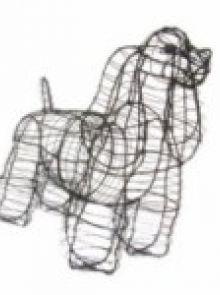 Cocker Spaniel 53x70x27 cm (frame)