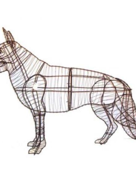Duitse Herder Staand 89x125x30 cm (frame)