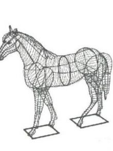 Paard 43x41x13 cm (frame)