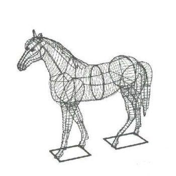 Paard 66x66x28 cm (frame)