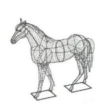 Paard 124x130x38 cm (frame)