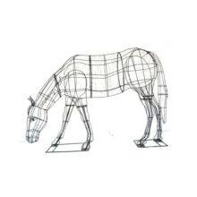 Paard Etend 157x226x61 cm (frame)