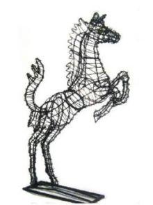 Paard Steigerend 50x31x9 cm (frame)