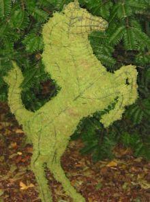 Paard Steigerend 150x91x30 cm met mos