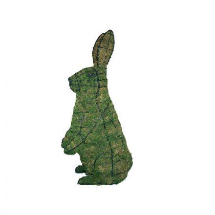 Konijn staand 53x33x18 cm met mos