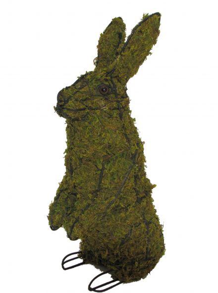 Konijn staand 86x41x25 cm met mos