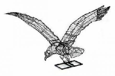 Arend vliegend 40x41x48 cm (frame)