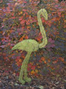 Flamingo 102x46x20 cm met mos