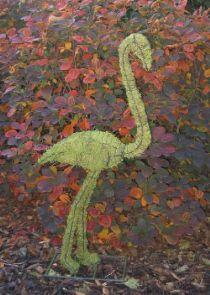 Flamingo 137x61x30 cm met mos