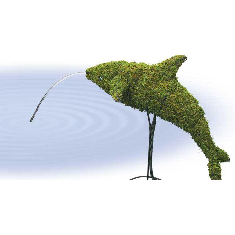 Dolfijn 48x48x23 cm met mos
