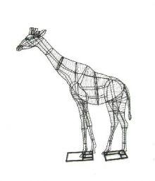 Giraffe 250x178x63 cm (frame)