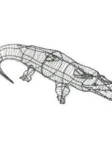 Krokodil 23x123x50 cm (frame)