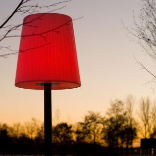 Buitenschemerlamp LICHTE – Mast met voet (Gepoedercoat)