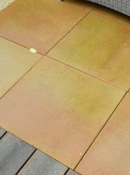 Terras-tegel naturel 60x60x5cm zalmgeel  (per stuk)