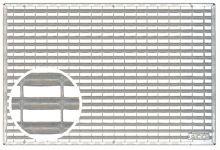 Schraapooster verzinkt staal 750x500x20mm (Easygarden, ACO artikel 01208)