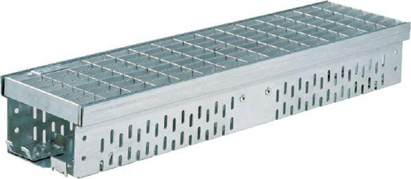 Glassline gootelement 2 meter + rooster verzinkt (ACO Easygarden artikelnummer 3814432)