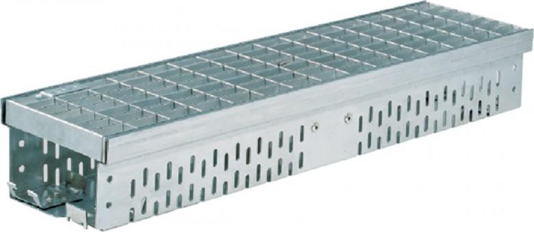 Glassline gootelement 1 meter + rooster verzinkt (ACO Easygarden artikelnummer 3814435)