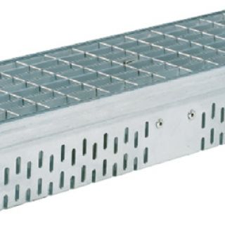 Glassline gootelement 2 meter RVS (gevelgoot ACO Easygarden artikelnummer 3814442)