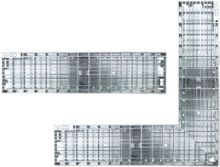 Glassline hoekstuk 50 x 50 cm RVS (gevelgoot ACO Easygarden artikelnummer 3814447)