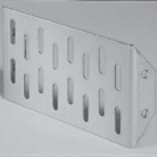 Glassline eindplaat RVS (gevelgoot ACO Easygarden artikelnummer 3814446)