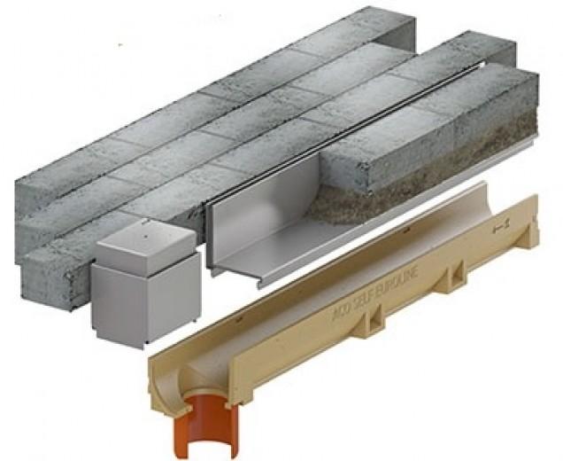 Slotline RVS inspectie (150mm) (ACO Easygarden sleufgoot artikelnummer 415836-1)