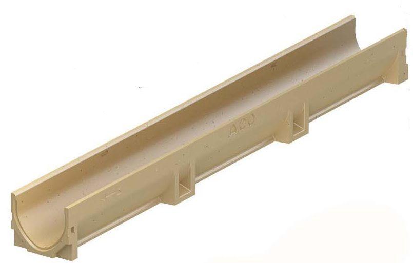 Euroline element zonder rooster Lengte 1 meter (ACO Easygarden artikelnummer 38500)