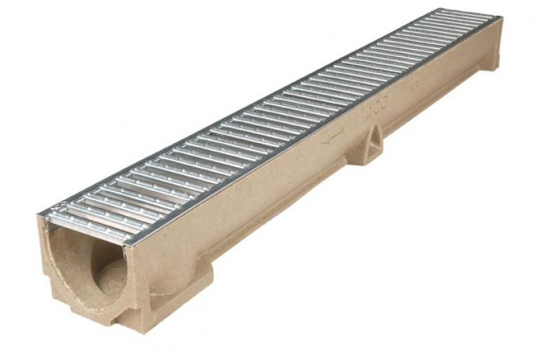 Euroline element 1 meter + verzinkt rooster (ACO Easygarden artikelnummer 38700)