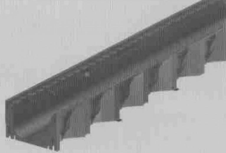 Hexaline 2,0 goot zwart, L=1000mm excl. rooster (ACO Easygarden roostergoot artikelnummer 319200)
