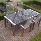 RVS tuintafel Style met granieten blad - 200 x 100 cm