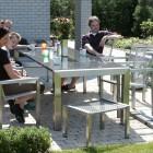 RVS voetenbank / hocker Style