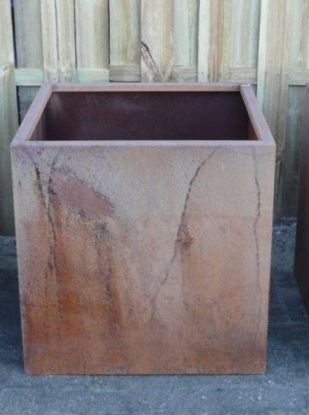 Plantenbak 60 x 60 x 58 cm cortenstaal zonder bodem