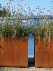 Plantenbak 120 x 60 x 100 cm cortenstaal zonder bodem