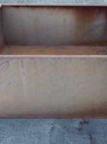 Plantenbak 150 x 150 x 58 cm cortenstaal met bodem