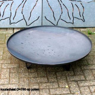 Vuurschaal op 3 poten Diameter 80 cm