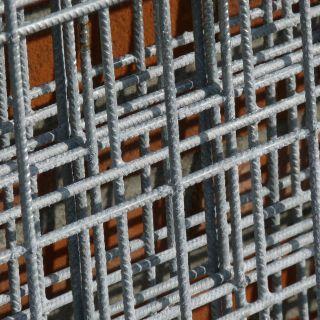 Gaasmat verzinkt 200 x 300 cm (Bouwstaalmat mazen 7,5 x 7,5 cm)