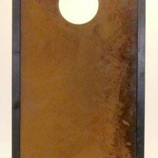 Tuinscherm Cortenstaal 90 x 180 cm met rond gat