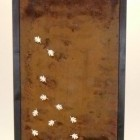 Tuinscherm Cortenstaal 90 x 180 cm met eikenbladeren