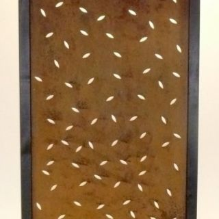 Tuinscherm Cortenstaal 90 x 180 cm met elipsvormen