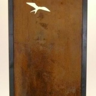 Tuinscherm Cortenstaal 90 x 180 cm met vlogels