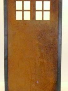 Tuinscherm Cortenstaal 90 x 180 cm met raam