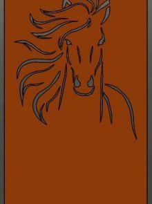 Tuinscherm Cortenstaal 90 x 180 cm met paard