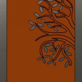 Tuinscherm Cortenstaal 90 x 180 cm met boom links