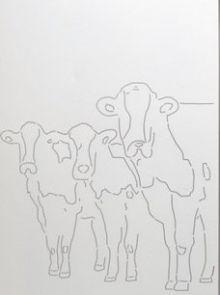 Schutting aluminium 90 x180 cm met koeien